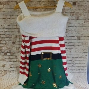 Holiday Time Open Shoulder Christmas Dress